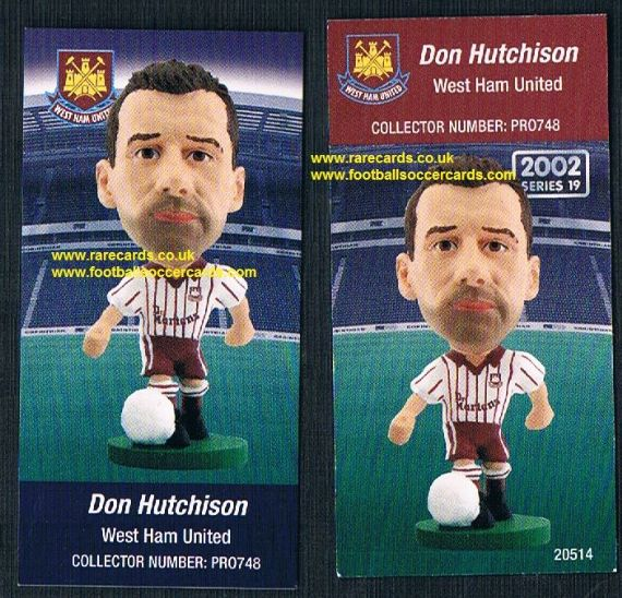 2006 Corinthian prostars West Ham Don Hutchison pr0748 card